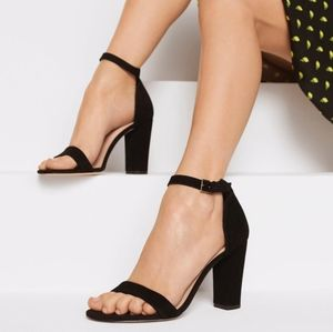 Aldo suede black heels